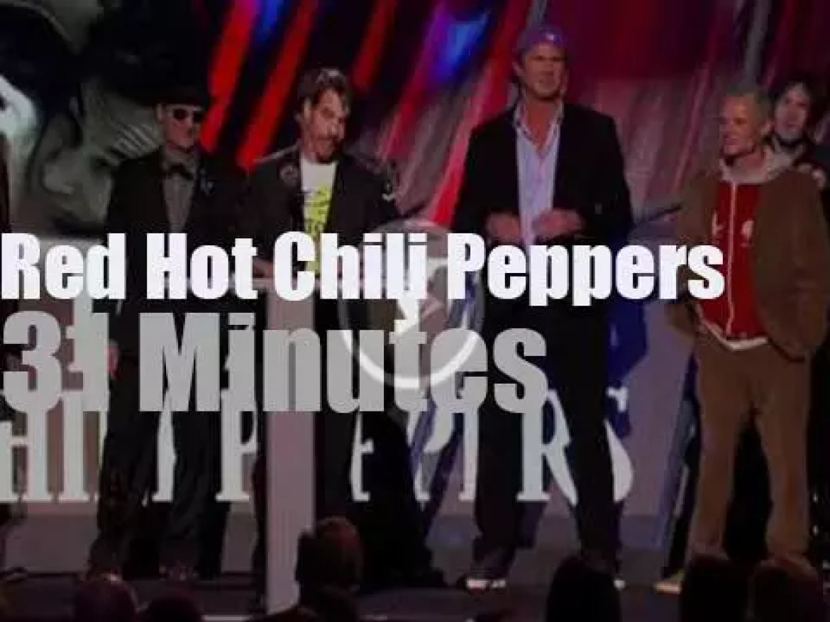 """Red Hot Chili Peppers at """"Rock and Roll Hall of Fame"""" (2012)"""