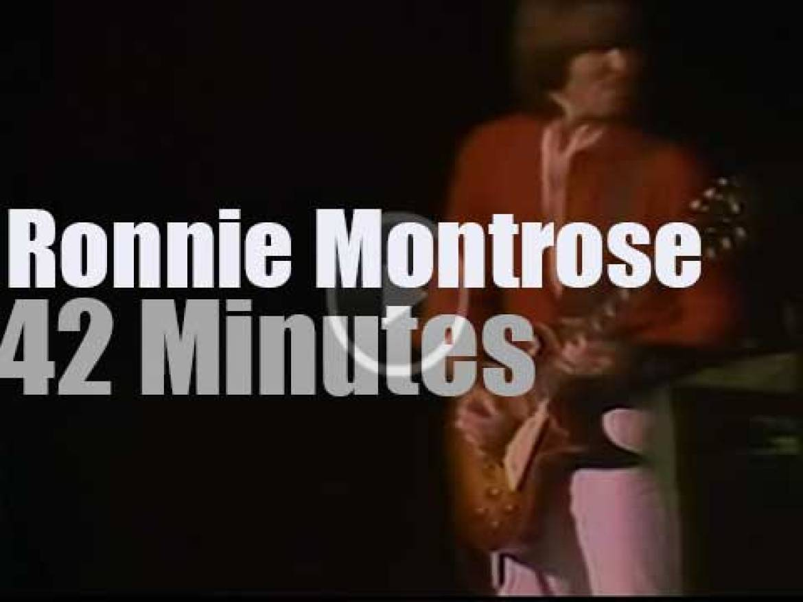 Ronnie Montrose plays in New York City (1978)