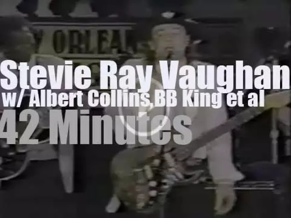 Stevie Ray Vaughan, Albert Collins & BB King get together in New Orleans (1988)