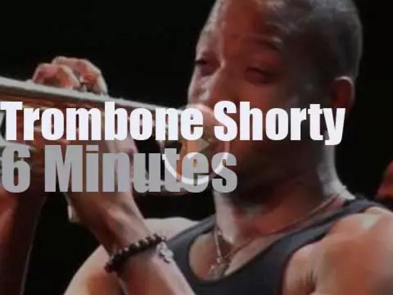 Trombone Shorty blows in NOLA (2012)