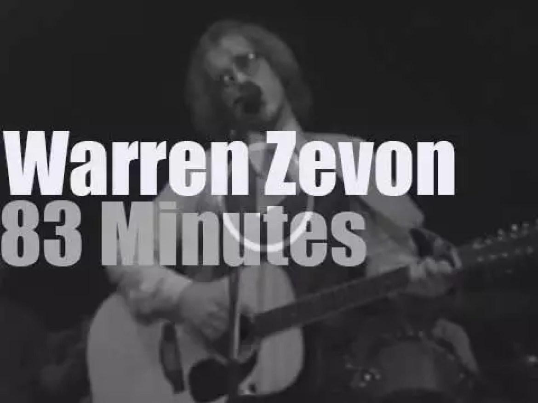 Warren Zevon performs in New-Jersey (1980)