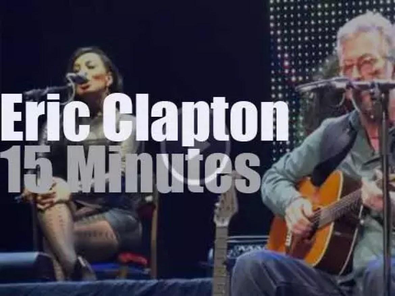 Eric Clapton celebrates his 70th birthday in New-York (2015)