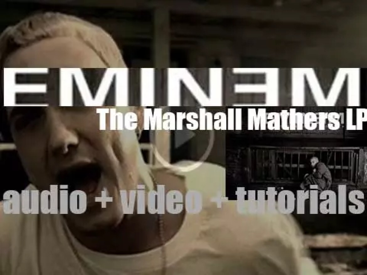 Eminem releases his third album : 'The Marshall Mathers LP' featuring 'The Real Slim Shady' & 'Stan' (2000)