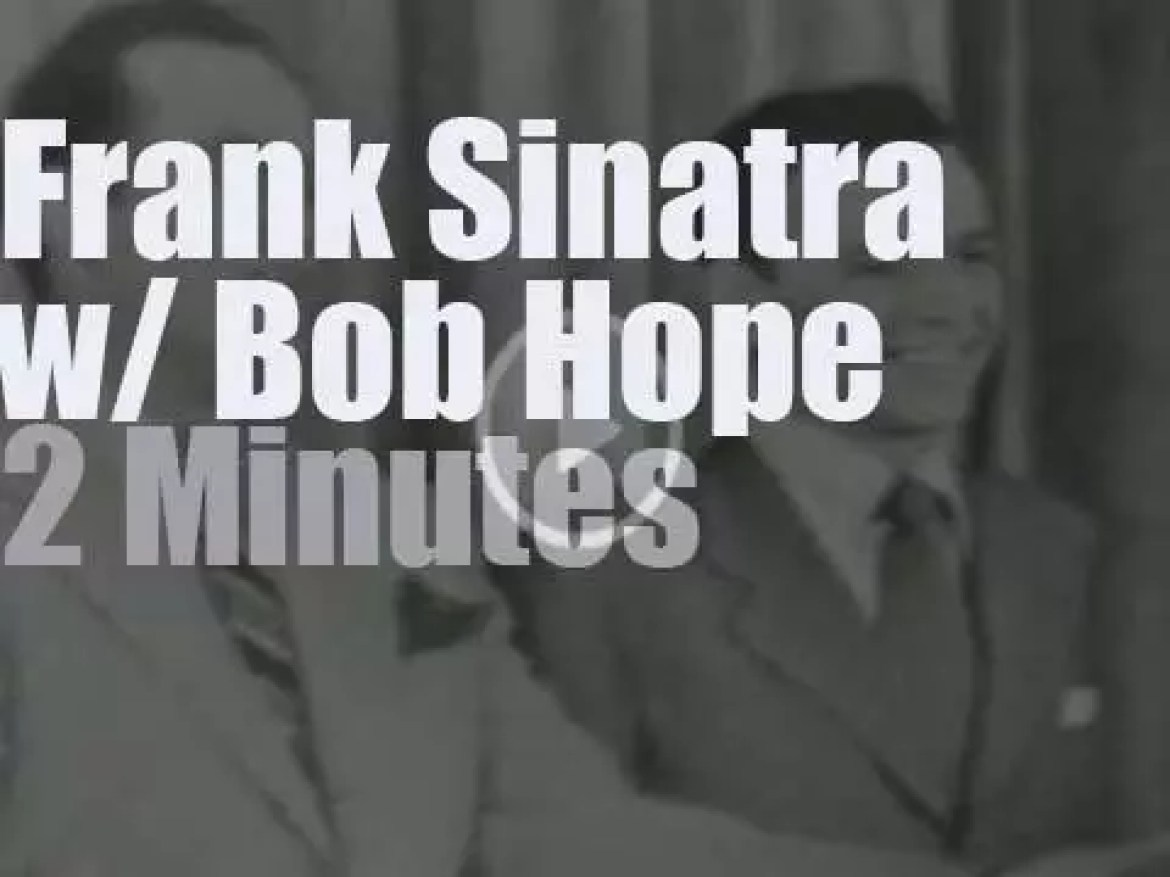 On TV today, Frank Sinatra debuts with Bob Hope (1950)