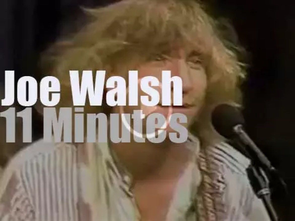 """Joe Walsh is on """"Late Night with David Letterman"""" (1985)"""