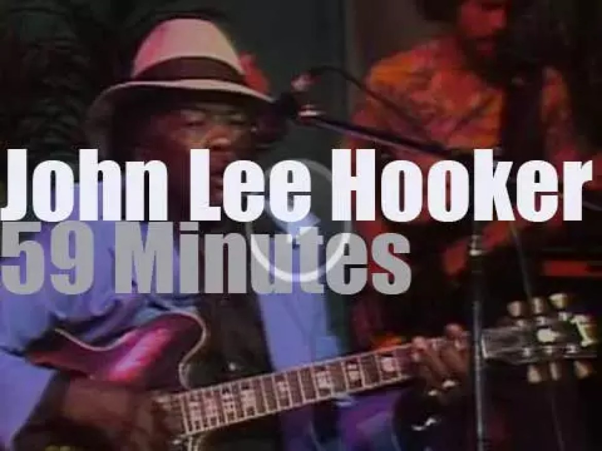 John Lee Hooker plays at the first  Montreal jazz festival  (1980)