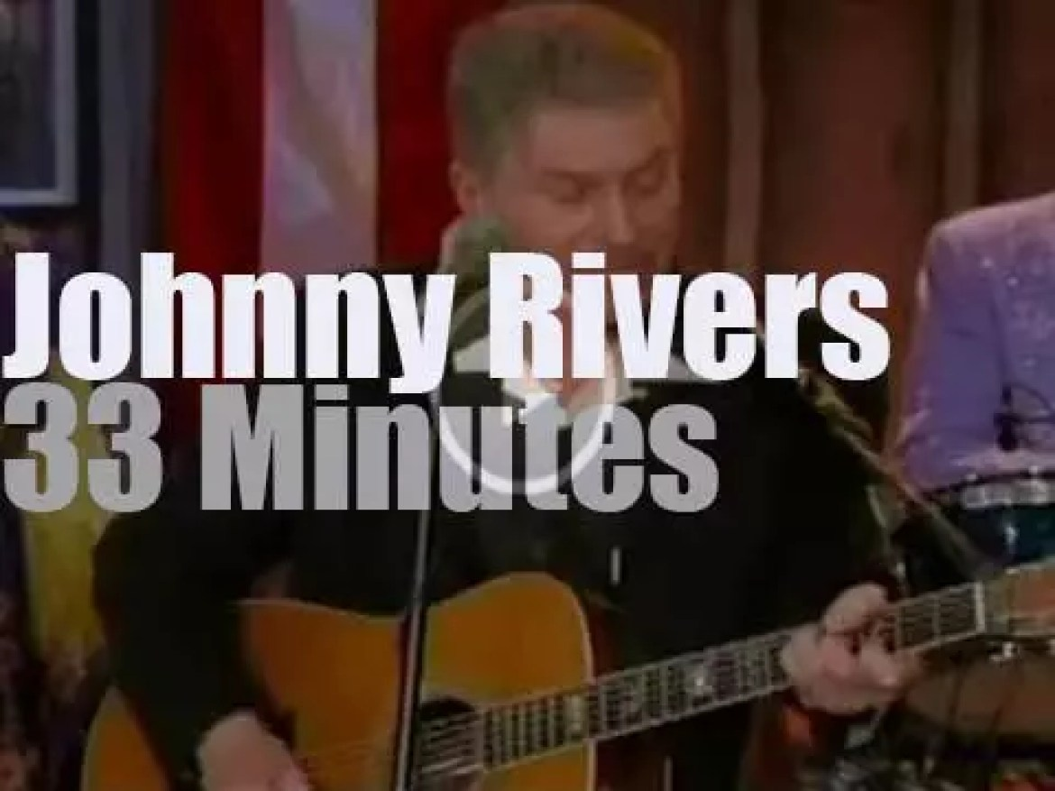 On TV today, Johnny Rivers at Marty Stuart Show  (2013)