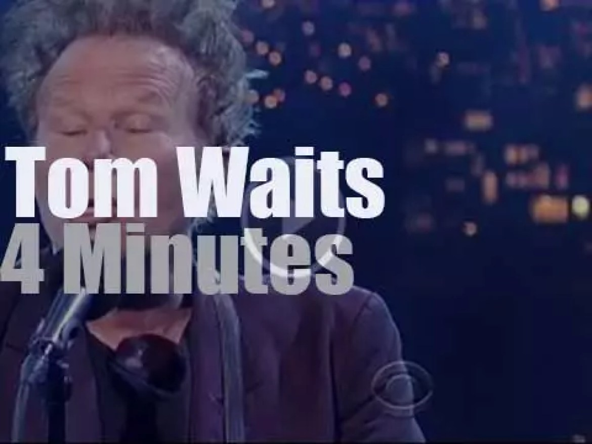 """On TV today, Tom Waits on """" Late Show with David Letterman"""" (2015)"""