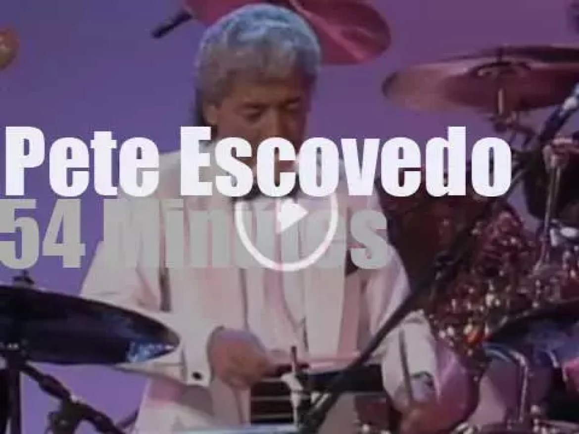 Pete Escovedo leads an 11-piece orchestra  (1989l)