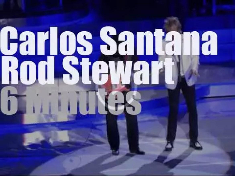 Rod Stewart & Carlos Santana get together In Las Vegas (2014)