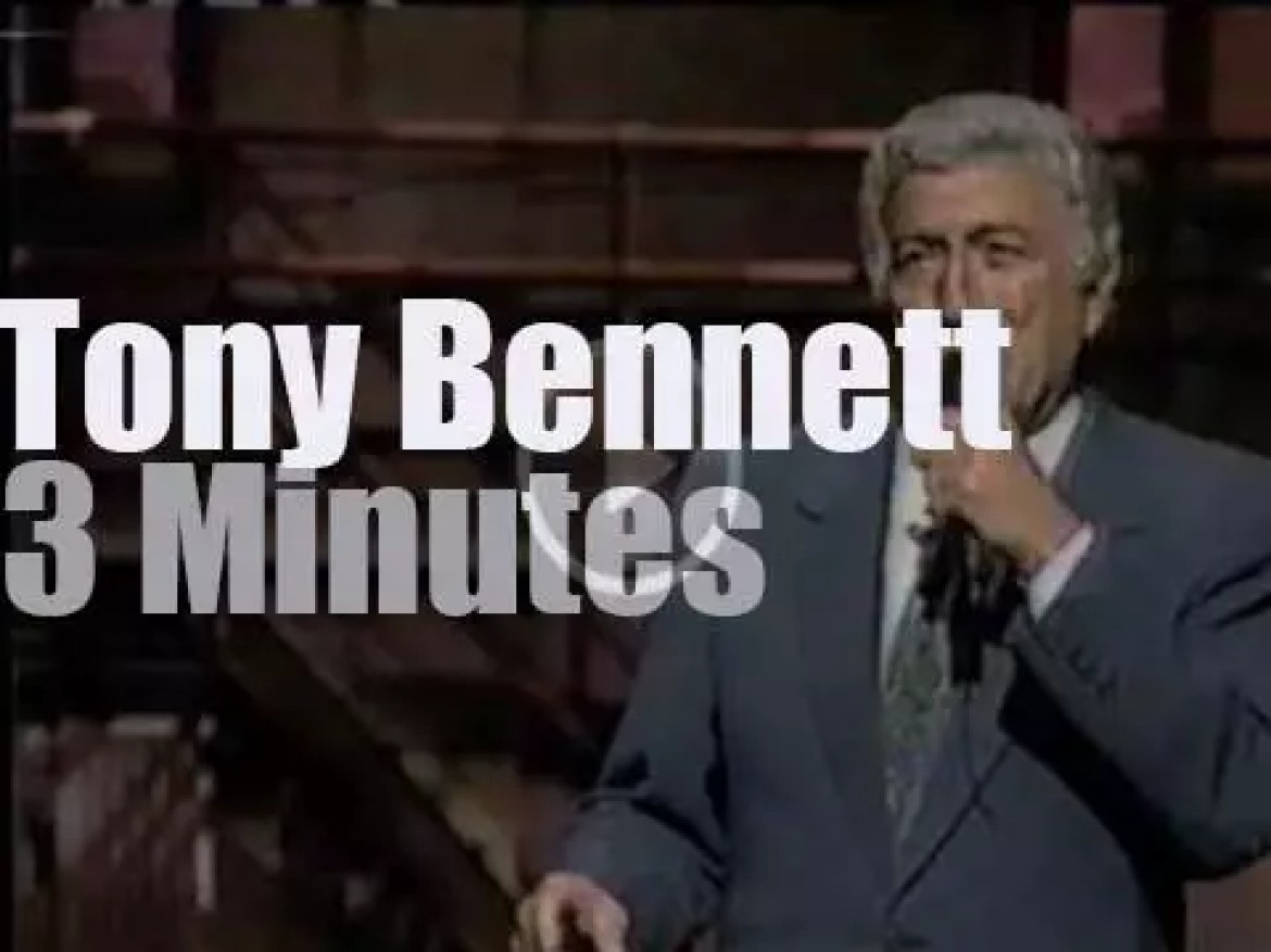 """On TV today, Tony Bennett is back on """"The Late Show"""" (1994)"""