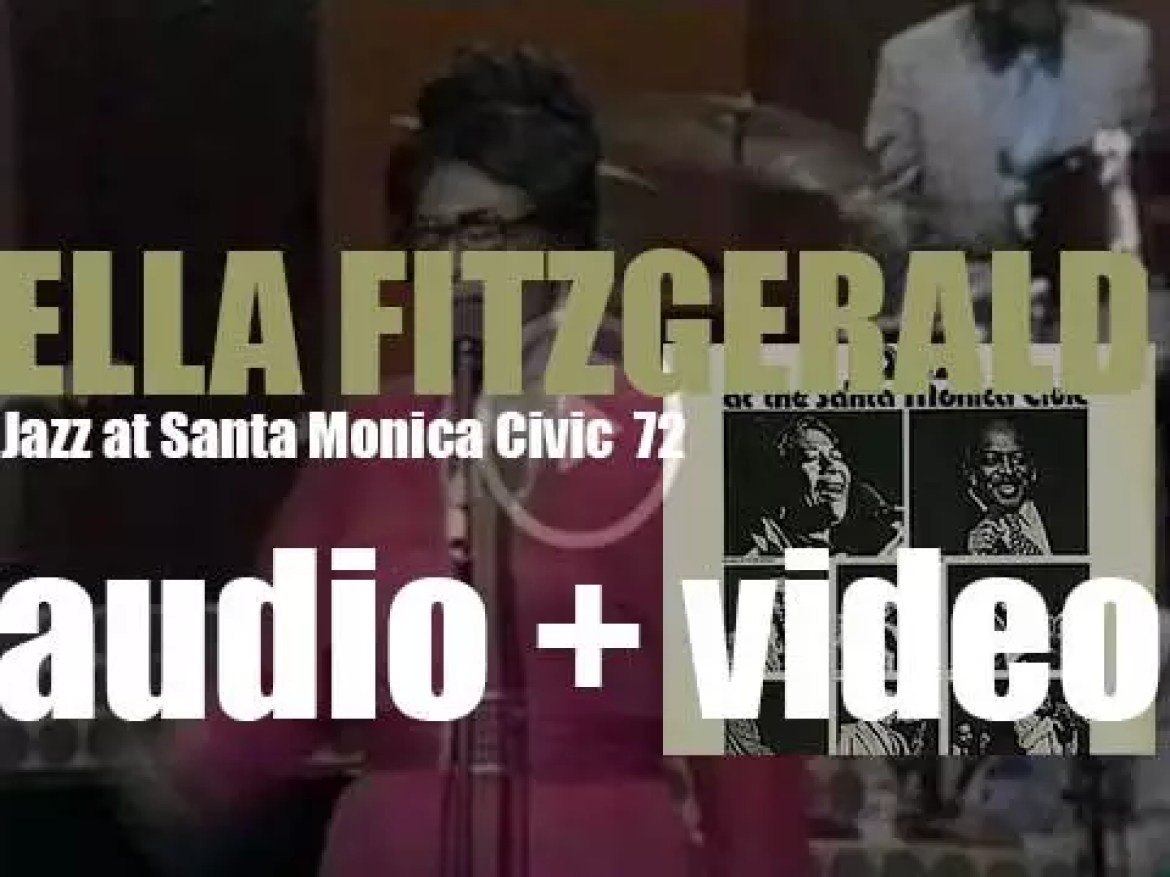Ella Fitzgerald records 'Jazz at Santa Monica '72' with the Count Basie Orchestra (1972)
