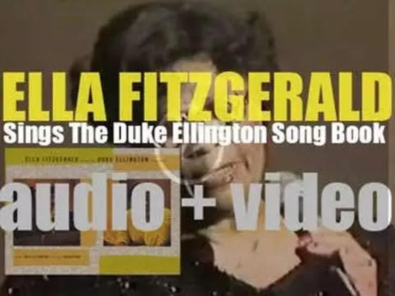 Ella Fitzgerald records 'Ella Fitzgerald Sings the Duke Ellington Song book' with the Duke Ellington Orchestra (1957)