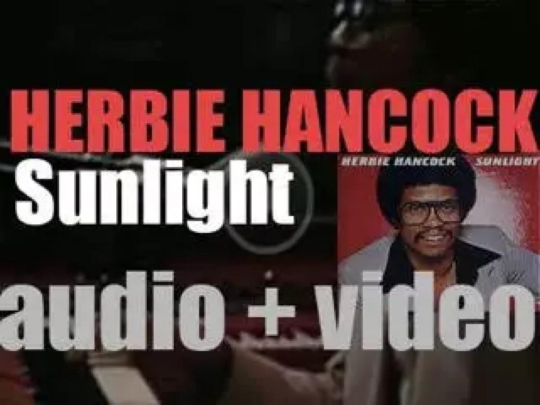 Columbia publish Herbie Hancock's 'Sunlight' recorded with Tony Williams and Jaco Pastorius (1978)