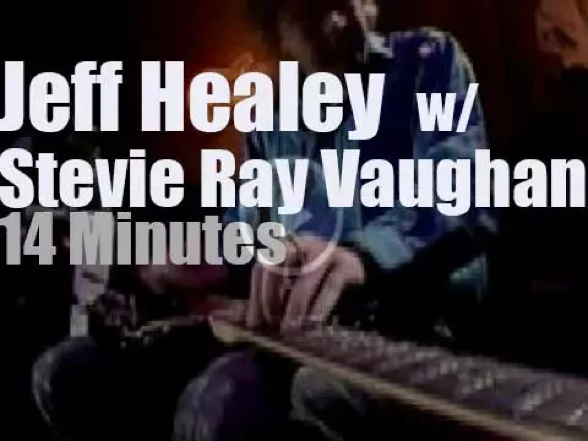 Jeff Healey joins  Stevie Ray Vaughan on Canadian TV (1987)