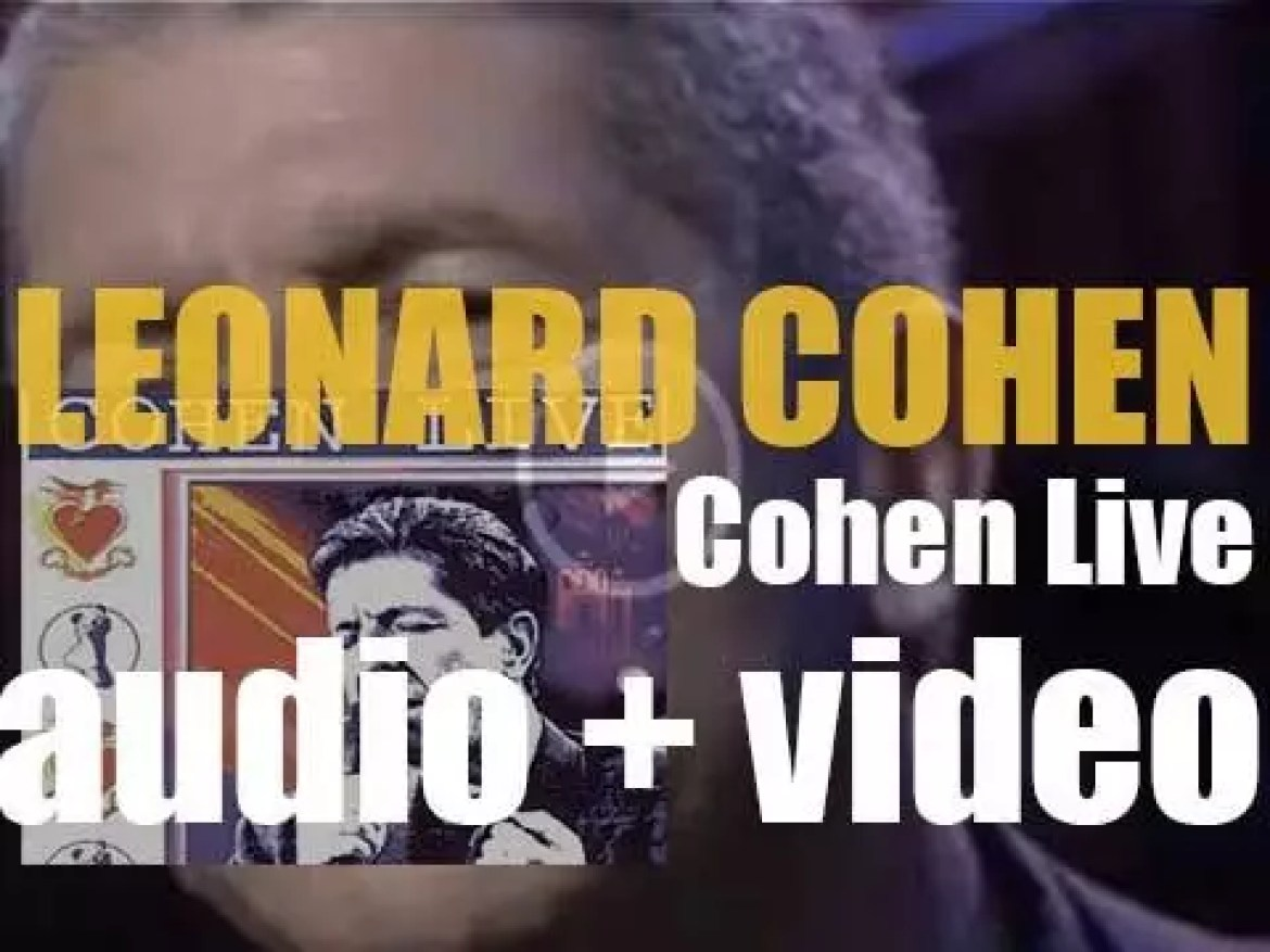 Sony publish Leonard Cohen's 'Cohen Live'  recorded on the 1988 and 1993 Tours (1994)