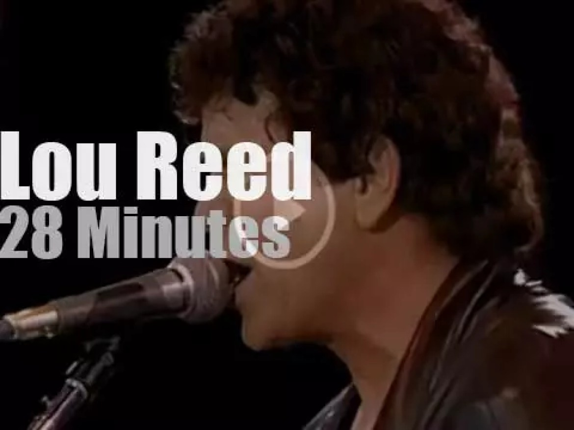 Lou Reed performs for Amnesty (1986)