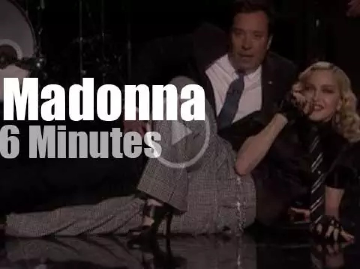 Madonna guests with Jimmy Fallon (2016)