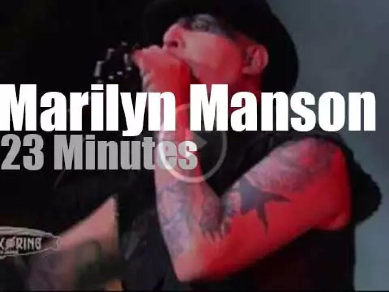 Marilyn Manson  attends a rock festival in Germany  (2015)
