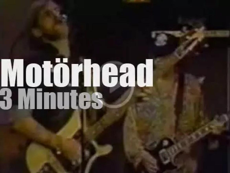On TV today, Motörhead is on Letterman (1991)