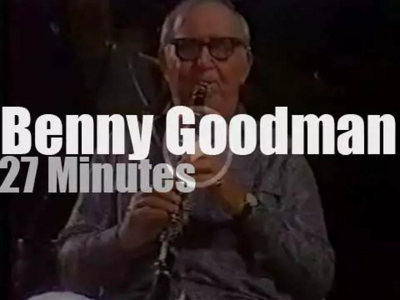 Benny Goodman plays at Juan Les Pins Festival (1982)