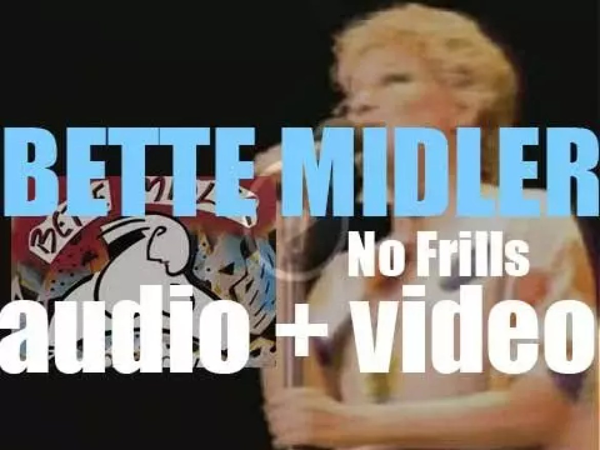 Atlantic publish Bette Midler's  sixth album : 'No Frills' featuring 'Beast of Burden' with Mick Jagger (1983)