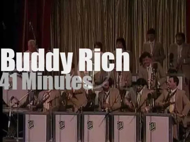 Buddy Rich leads a big band in Copenhagen (1986)
