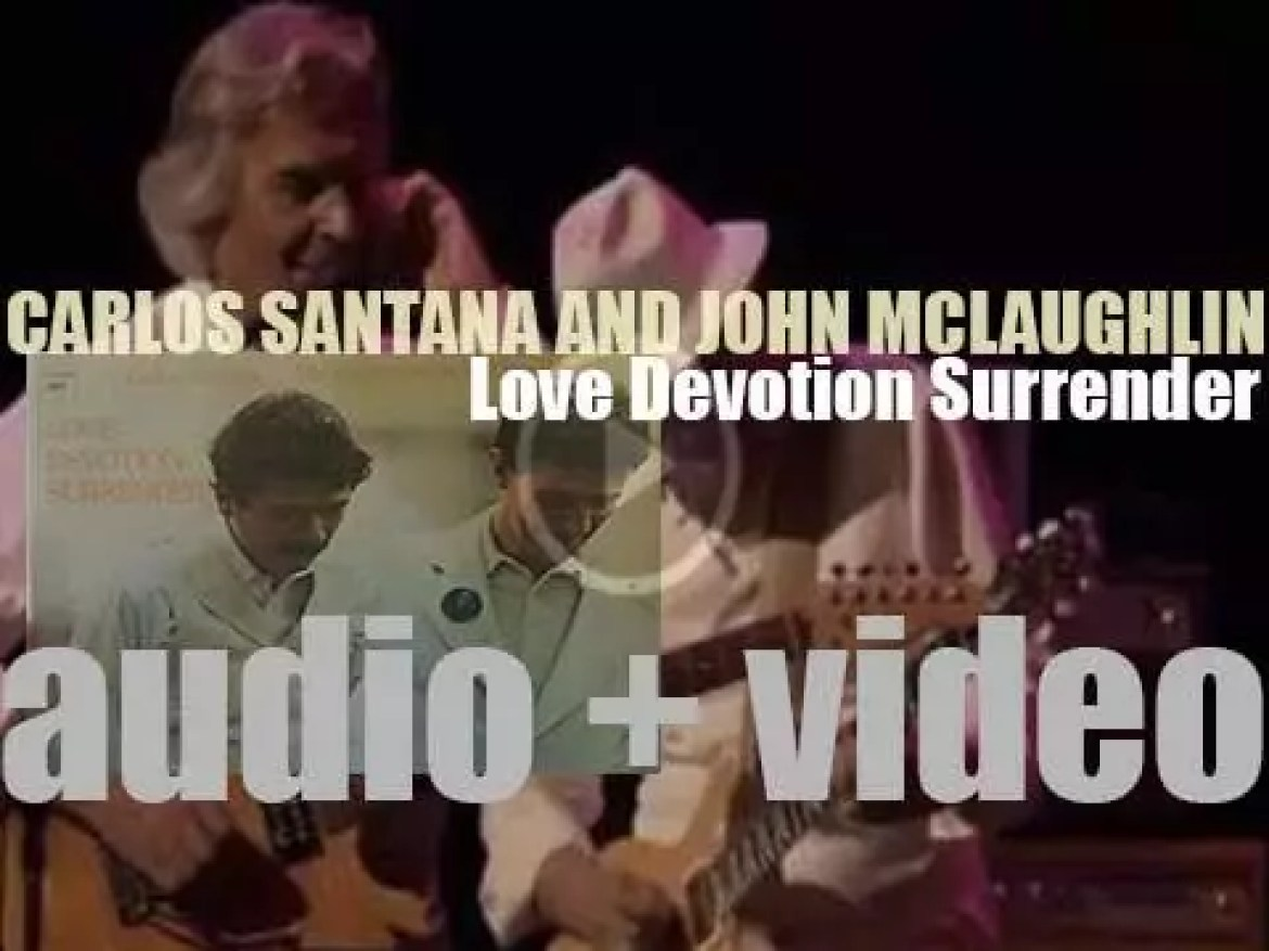 Carlos Santana and John McLaughlin record 'Love Devotion Surrender' with their respective bands (1973)