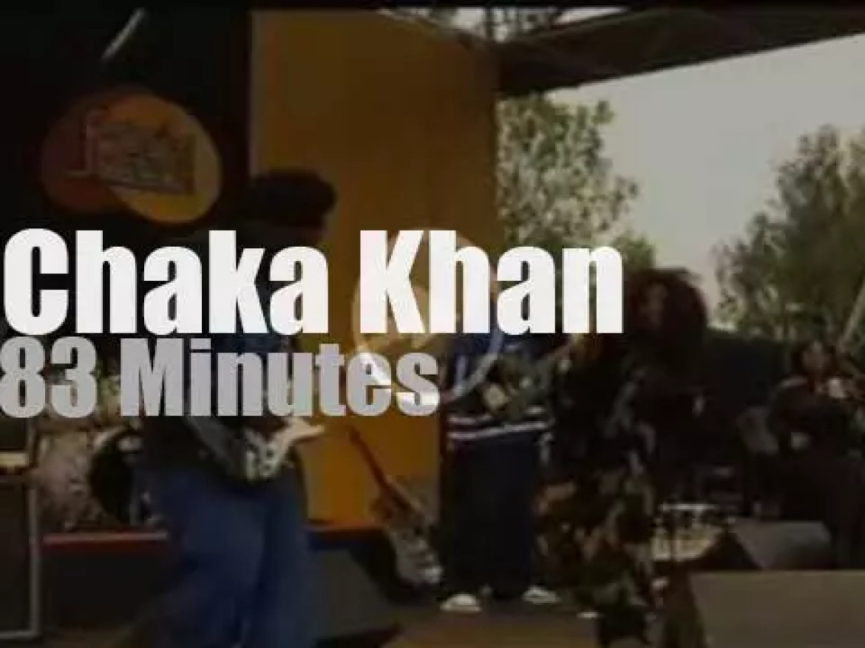 Chaka Khan sings at Pori Jazz (2002)