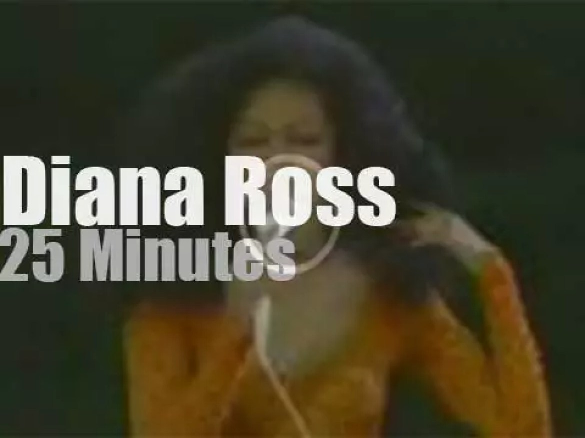 Diana Ross sings in Central Park (1983)