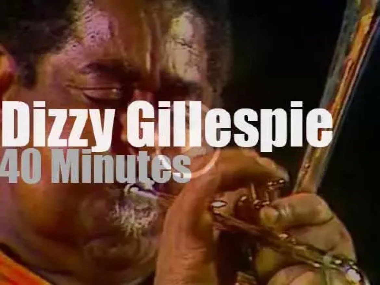 Dizzy Gillespie parades in Nice (1977)