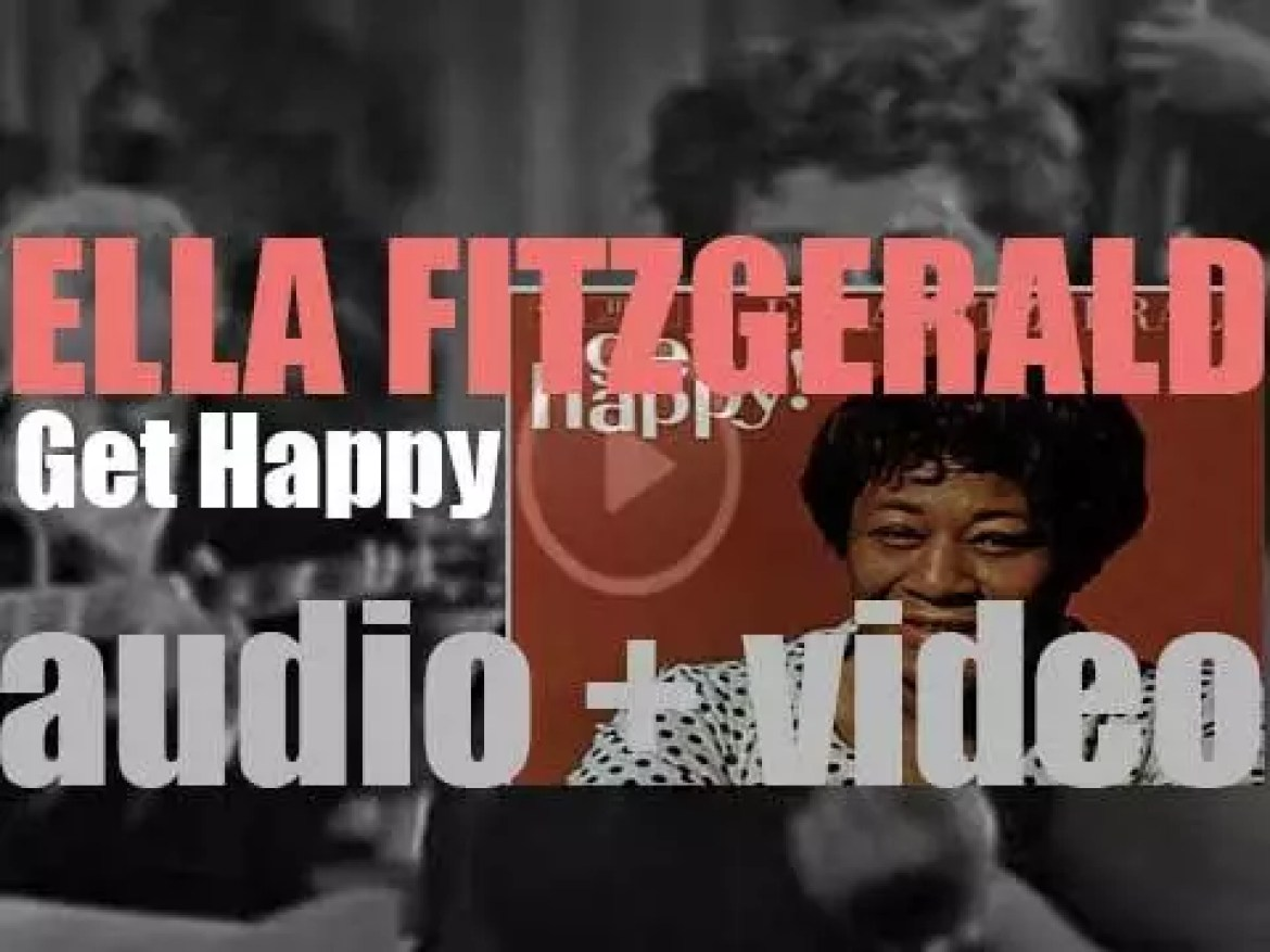 Ella Fitzgerald ends the recording of 'Get Happy!' with various studio orchestras (1959)