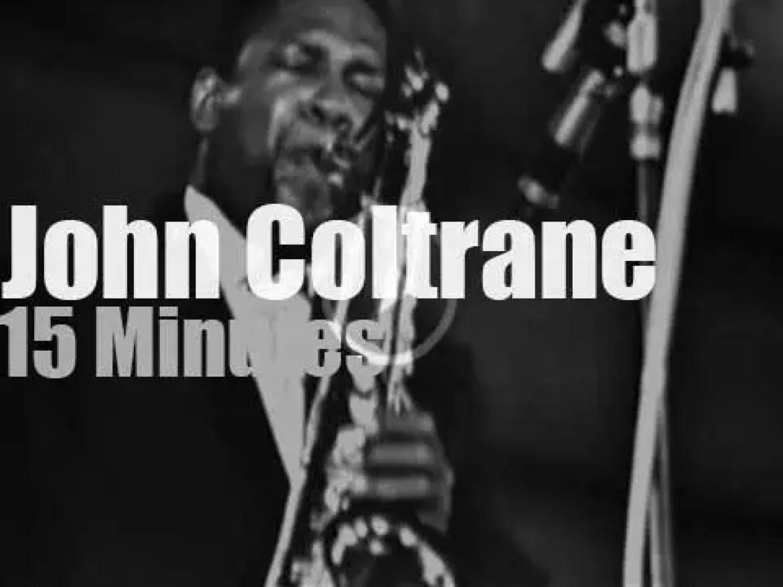 John Coltrane plays at  Festival d'Antibes (1965)