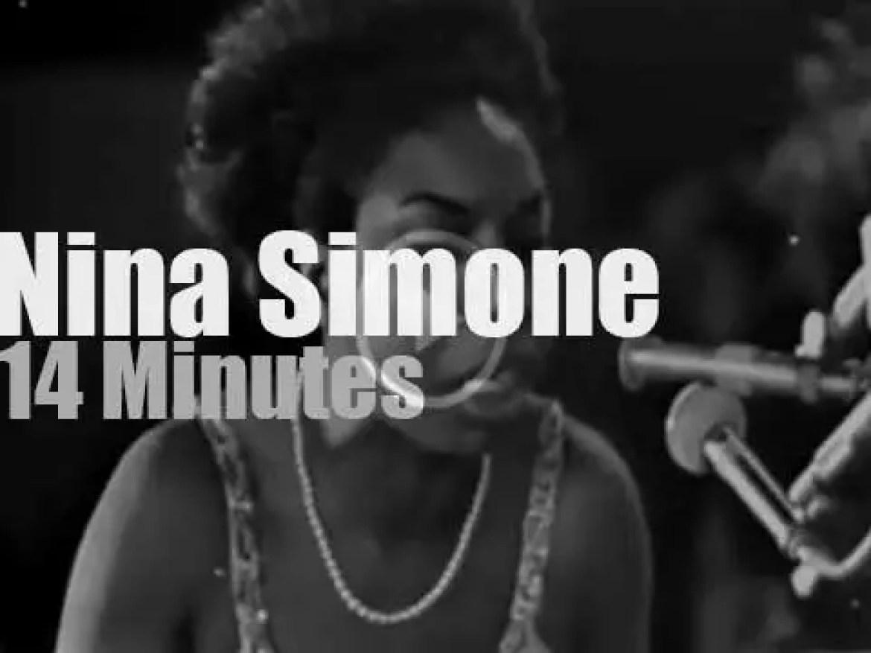 Nina Simone sings in  Juan Les Pins (1965)