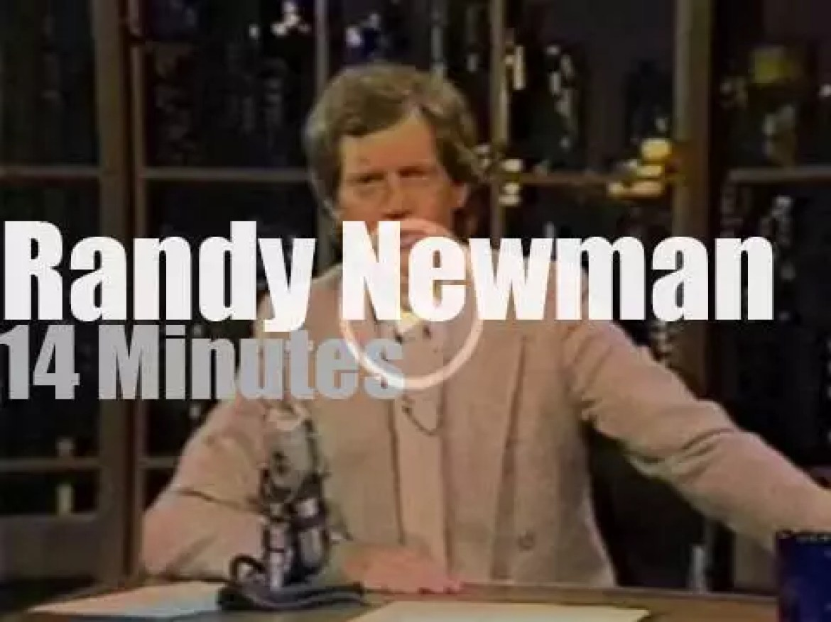 On TV today, Randy Newman with David Letterman (1983)