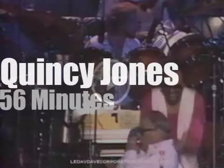 Quincy Jones conducts a mega big band in Tokyo (1981)
