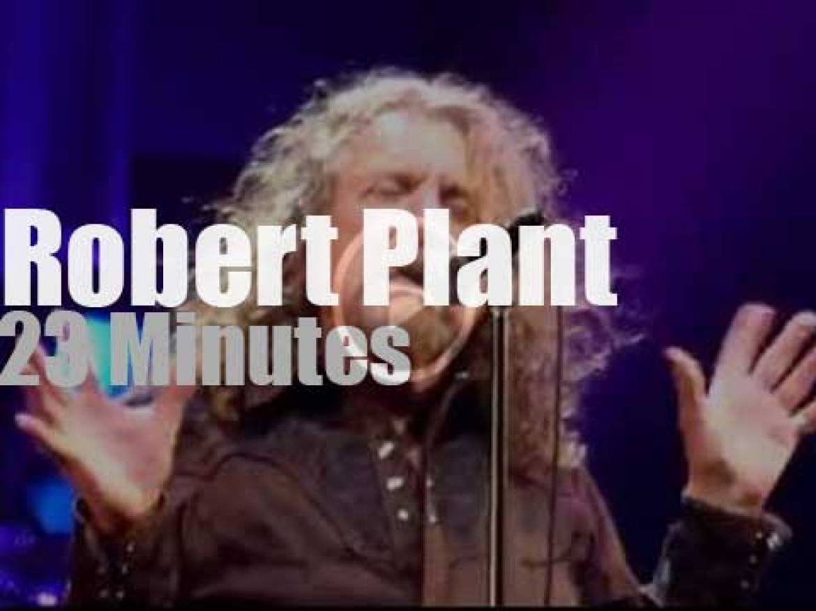Robert Plant sings in Montreux (2014)