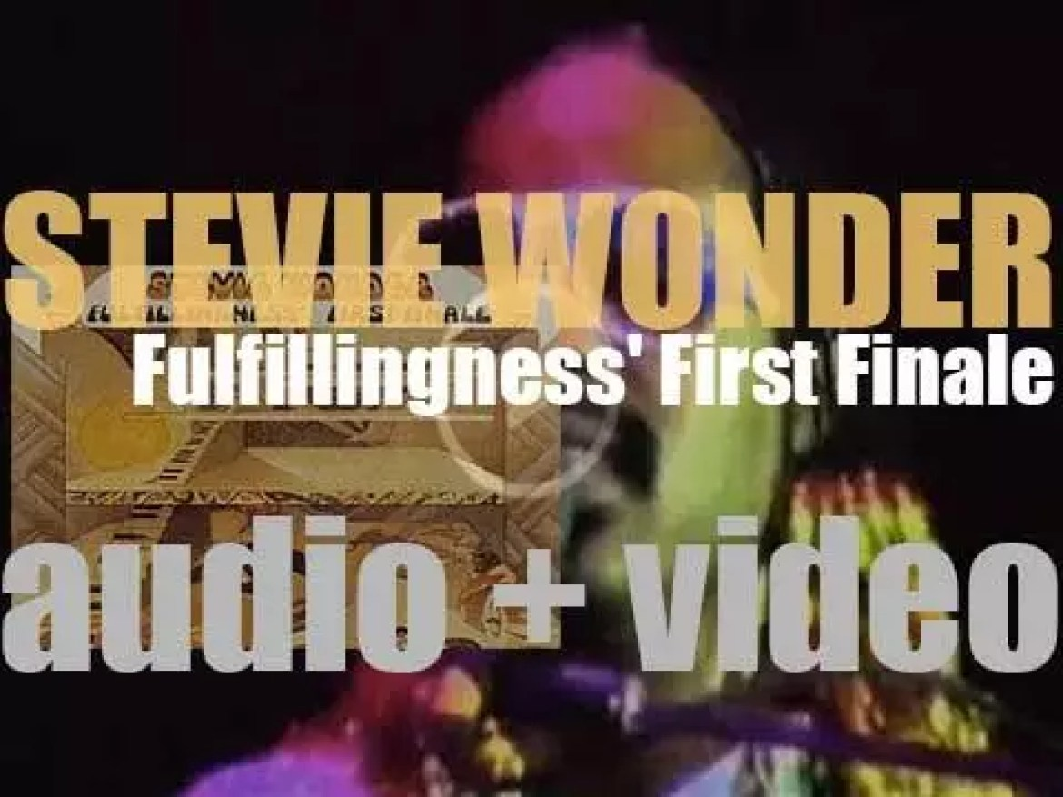 Stevie Wonder releases his  seventeenth album : 'Fulfillingness' First Finale' featuring 'Boogie On Reggae Woman' (1974)