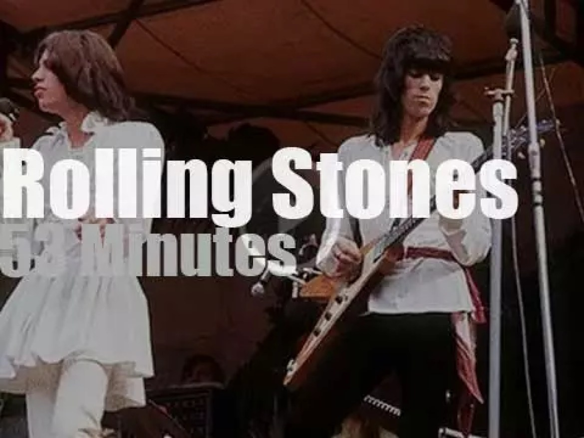 The Stones play in Hyde Park (1969)