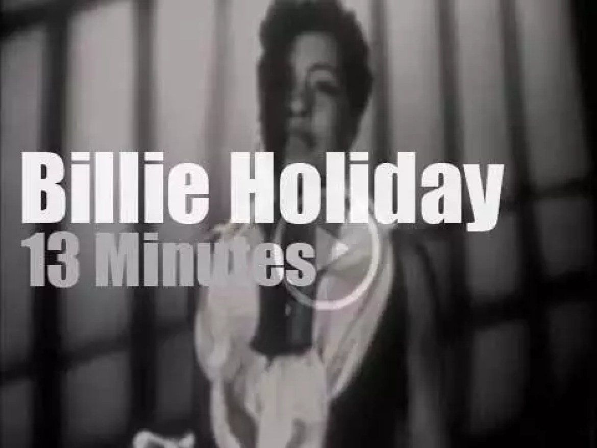 "On TV today, Billie Holiday on ""Stars of Jazz"" (1956)"