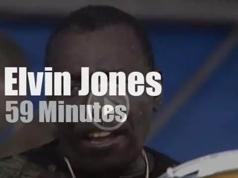 Elvin Jones  plays at Newport Jazz (1990)