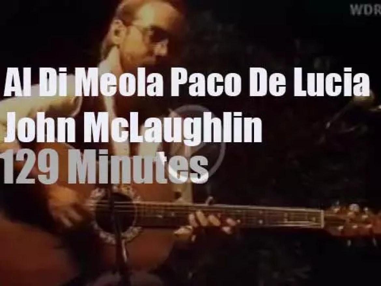 Al Di Meola, John McLaughlin, Paco De Lucia meet in Germany (1981)