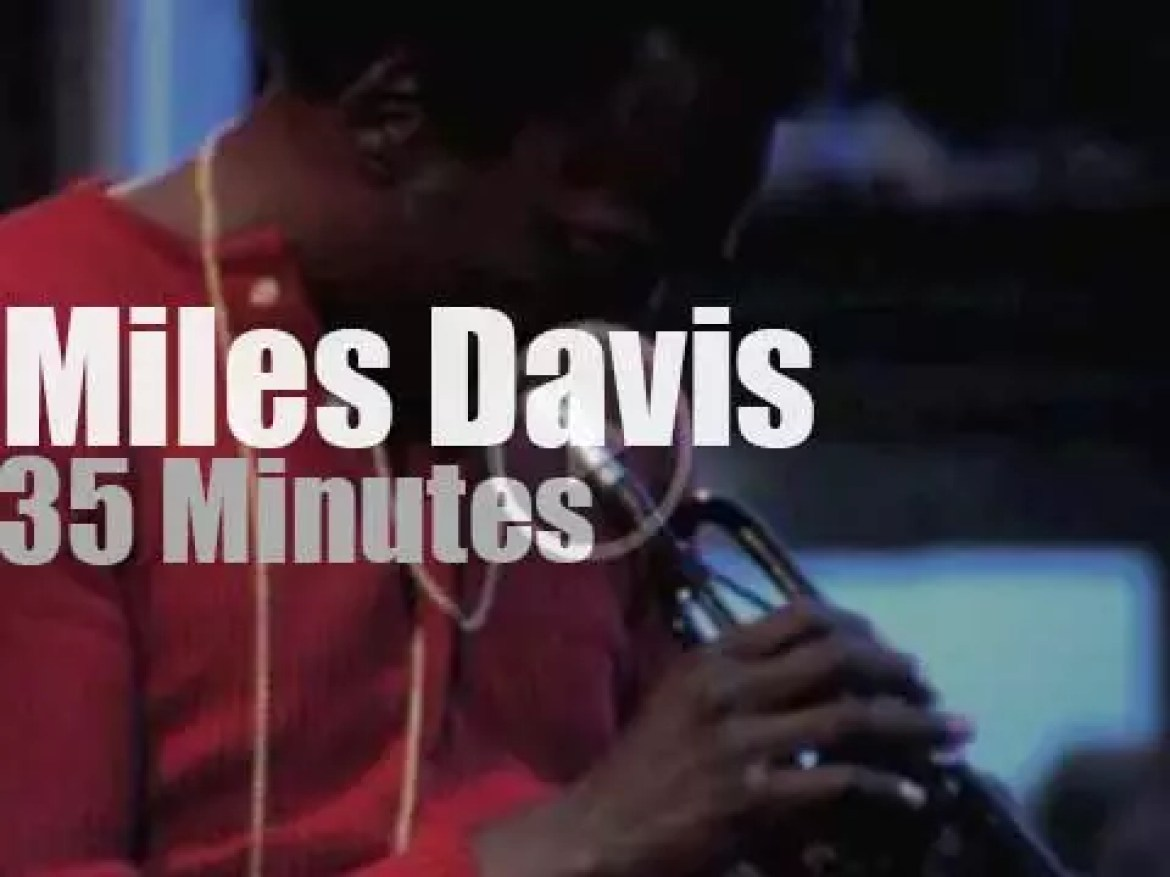 Miles Davis  is at 'Isle of Wight Festival', day 4  (1970)