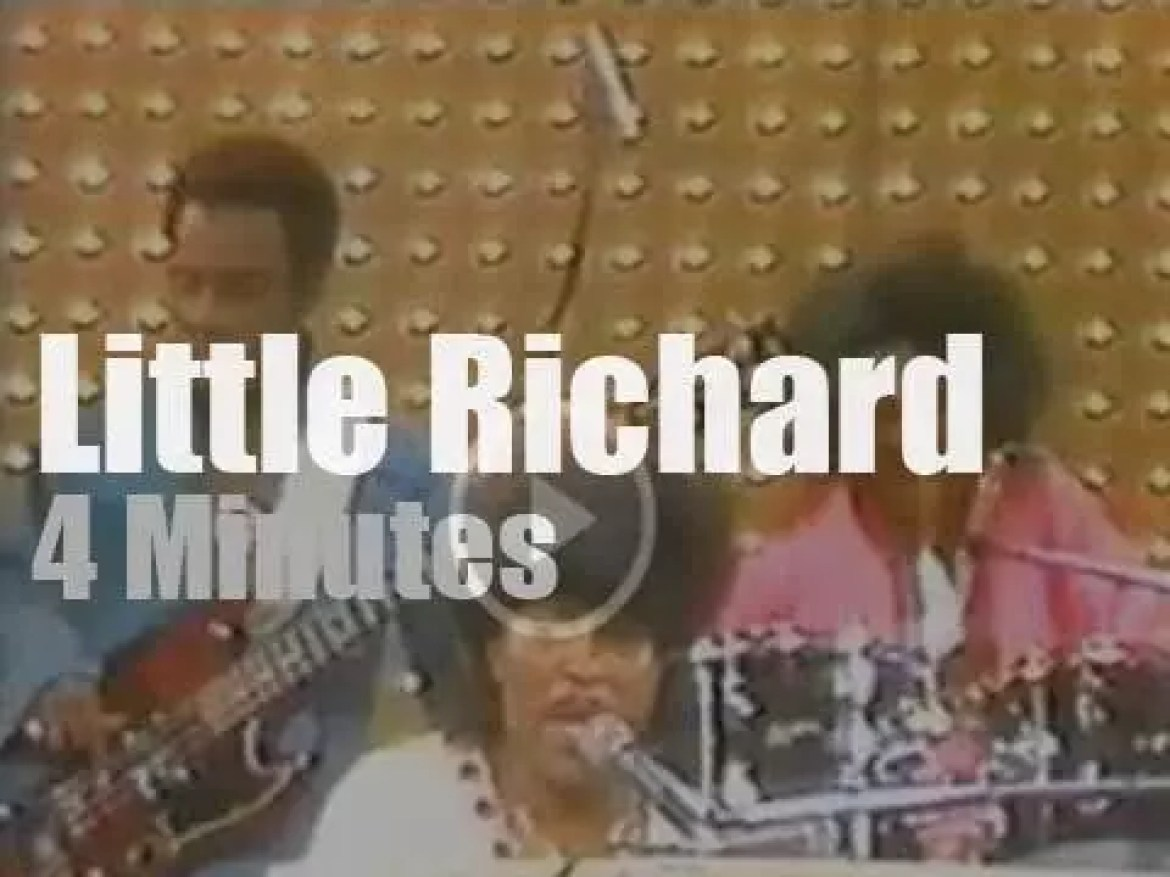 """On TV today, Little Richard at """"Midnight Special"""" (1974)"""