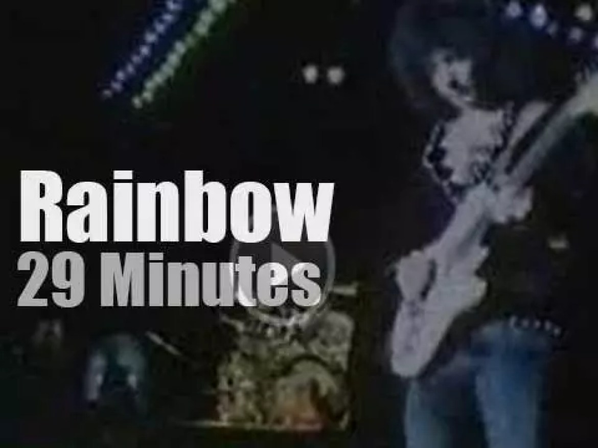 """Rainbow play at """"Monsters Of Rock"""" in Donington (1980)"""