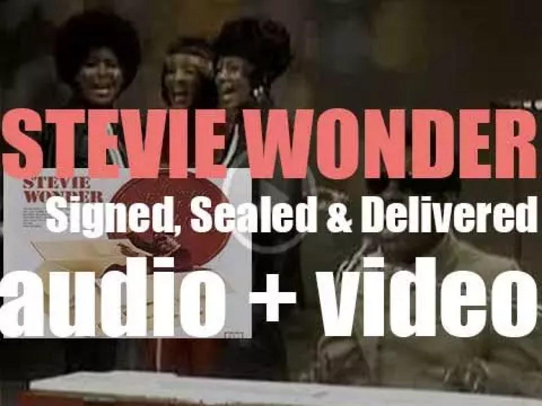 Tamla publish Stevie Wonder's twelfth album : 'Signed, Sealed & Delivered' (1970)