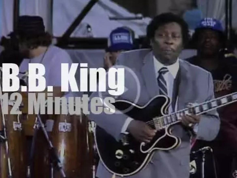 B.B. King sings at 'Farm Aid' (1985)