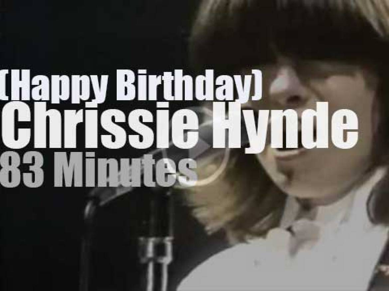 Happy  Birthday Chrissie Hynde