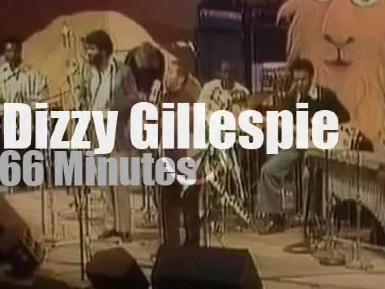 Dizzy Gillespie plays at 'Monterey Jazz' (1975)