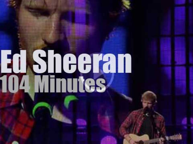Ed Sheeran goes live in London (2014)
